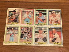 1981 DONRUSS BASEBALL 8 CARD UNCUT SHEET PANEL CHARBONEAU ERR YASTRZEMSKI RARE