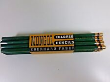 Vintage 12 Eberhard Faber Mongol colored pencils  dark green 968 new in sleeve