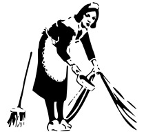 BANKSY MAID IN LONDON STENCIL REUSABLE FROM A4 180 micron