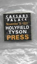 Mike Tyson Evander Holyfield  Boxing Press Pin 1991 Cancelled Bout