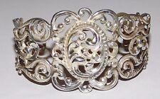Danecraft Sterling Silver Repoussé Filigree Open Work Cuff Bracelet