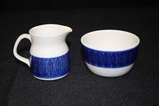Rorstrand of Sweden KOKA Blue Creamer and Open Sugar Bowl, Scarce