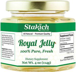 4 oz PURE FRESH ROYAL JELLY 100% NATURAL RAW 113,400mg HIGH POTENCY AT WHOLESALE