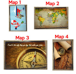 World map passport travel case world map custom Leather Passport Cover Holder