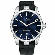 Edox 560023CBUIN Men's Grand Ocean Silver-Tone Quartz Watch