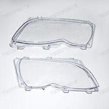 2PCS Headlight Lens For BMW E46 325i 330i 2001-2005 OEM 63126924045 63126924046
