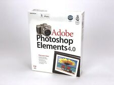 Adobe PHOTOSHOP Elements 4.0 for Windows XP PC CD New, Sealed!