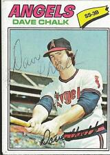 Dave Chalk 1977 Topps Autograph #315 Angels