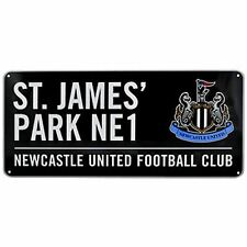 Newcastle United FC St James Park ANUNCIO DE METAL DE CALLE - Negro