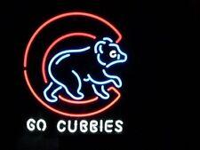 "New Chicago Cubs Go Cubbies Neon Light Sign 20""x16"""