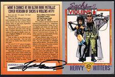 Sachs & Violens SIGNED Promo Card ~ GEORGE PEREZ Comic Art