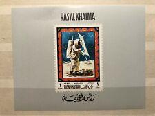 RAS AL KHAIMA, SPACE, APOLLO 12, SMALL CREASE, MNH, GOOD COND., IMPERF. SS