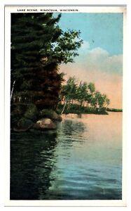 Early 1900s Lake Scene, Minocqua, WI Postcard
