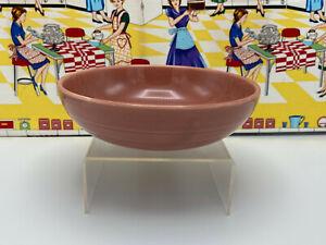 "Vintage Homer Laughlin Harlequin Fiesta Individual Salad Bowl Rose Pink 7 1/2"""