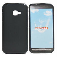For Samsung Galaxy Xcover4 Black Matte TPU Gel Skin Case back cover