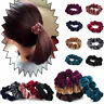 5Pcs Velvet Elastic Hair Rope Tie Women Hair Ring Ponytail Holder Scrunchie Gift