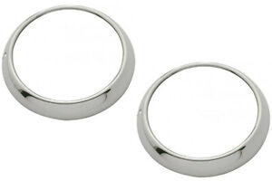 48-54 Chevy/GMC Truck Headlamp Bezels Rings Polished Stainless w/Clips (Pair)