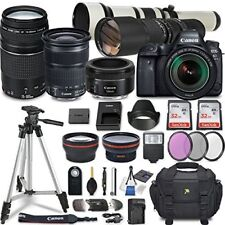 Canon EOS 6D Mark II Camera w/ 7 Lens + Accessories w/ Commander Kit (32 Items)