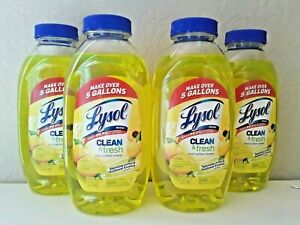 Lysol Cleaner Limon & Fresh Multi-Surface Lemon 10.75 oz Concentrate Ships Today