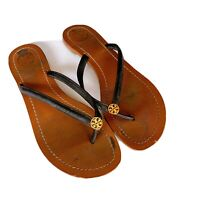 Tory Burch Terra Thong Flip Flops Leather Thong Sandals ($287)