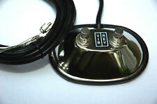 Vintage Style Two Button Foot Switch Footswitch Fits Fender With Rca Connectors