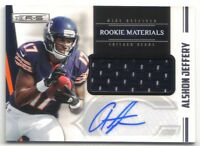 ALSHON JEFFERY 2012 ROOKIES AND STARS ROOKIE MATERIALS AUTOGRAPH RC AUTO 279/499