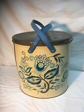 Vintage Tri Chem Metal Paint Craft Can Trash Sewing Hobby Container
