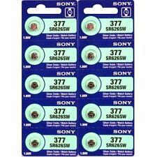 10 NEW SONY 377 SR626SW SR66 V377 watch battery
