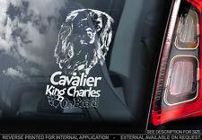 Cavalier King Charles Spaniel - Car Window Sticker - Dog Sign -V03