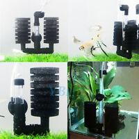 Aquarium Fish Tank Biochemical Air Pump Double Sponge Water Filter + Suction Cup