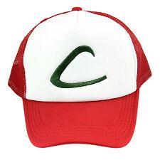 Fancy Pokemon Ash Ketchum Baseball Hat Cap Trainer Cosplay Halloween Costume