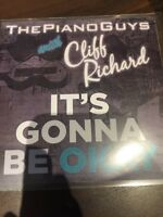 THE PIANOGUYS WITH CLIFF RICHARD 'ITS GONNA BE OKAY' CD PROMO AND PRESS STICKER