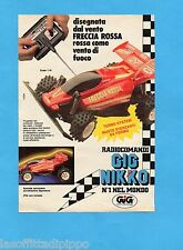 TOP989-PUBBLICITA'/ADVERTISING-1989- GIG NIKKO - FRECCIA ROSSA RADIOCOMANDATA