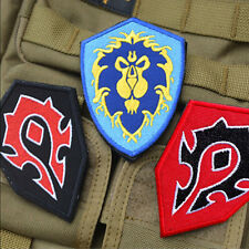 3x World of Warcraft ALLIANCE 3 Game EMBROIDERED USA PATCH Morale Badge