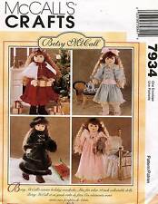 McCall's Betsy Doll Clothes Pattern 7934 18""