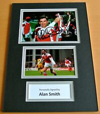 ALAN SMITH SIGNED autograph A4 Photo Mount Display ARSENAL Football Legend & COA