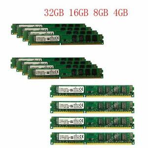 32GB 16GB 8GB 4GB PC3-12800U DDR3DIMM 1600Mhz RAM New Memory For Kingston LOT UK