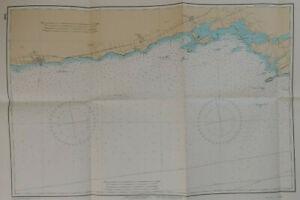 Scotch Bonnet Island to Cobourg Lake Ontario Ca Nautical Chart Vintage Map 1980
