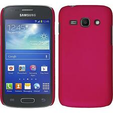 Hardcase Samsung Galaxy Ace 3 rubberized hot pink Cover + protective foils