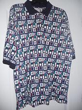 Men's Grand Slam Golf Shirt Size XL Polo Style Geometric and Golf Ball Design