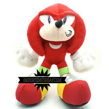 SONIC KNUCKLES PELUCHE pupazzo plush riccio sega Echidna the Hedgehog metal doll