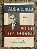 VOICE OF ISRAEL Signed First Edition 1957 Abba Eban Israeli Jewish History Book