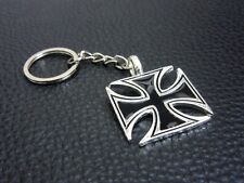 KC011 German Iron Cross Keychain Souvenir Pewter Key Ring Christmas Gift Bag New