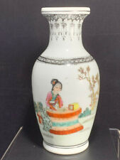 Vintage Chinese porcelain ''Home Again'' Hand painted Bone China Vase Home Decor