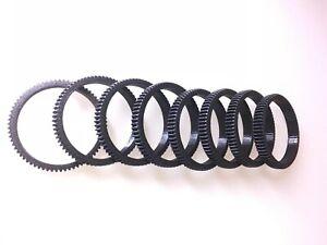 4mm thick/8 mm width Seamless Follow Focus Lens Gear Ring diameter 10-110 mm