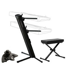 Ultimate Support AX 48 Pro Plus Column Keyboard Stand With Bench + Adapter