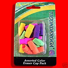 15 X PENCIL TOP END ERASERS ERASER RUBBERS RUBBER