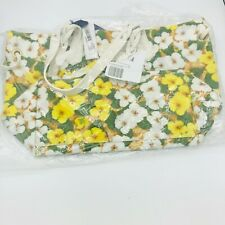 Dooney & Bourke White and Yellow Floral Print Leisure Travel Shopper Tote Bag