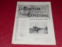 [REVUE EXPOSITION UNIVERSELLE 1900] LE MONITEUR DE 1900 N° 82 #  AOUT 1900