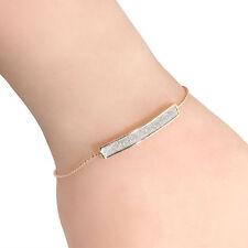 *uk* girl gold Friendship women sparkly adjustable Bracelet Crystal gift 1139
